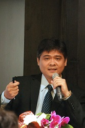 Ares manager James Ju introduced eight major points of ARES PP, discussing on the issue of information security control.