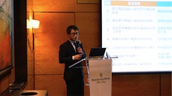 Consultant Zheng Hui Chen explained the innovative functions of the Intelligent Financial Product Graphical Tool