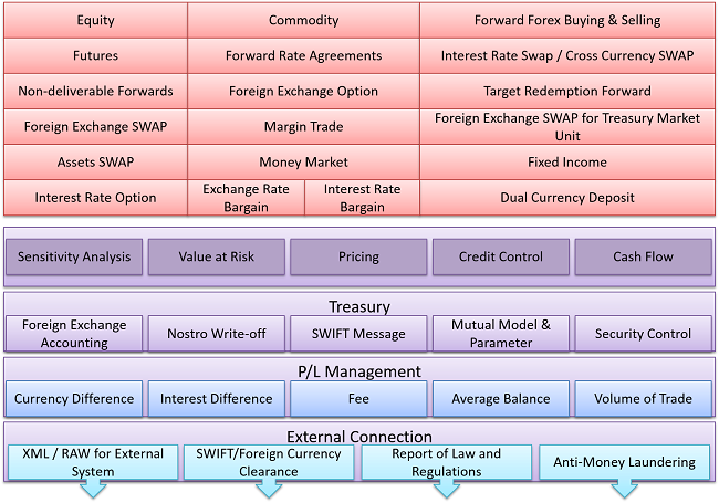 Treasury system structure