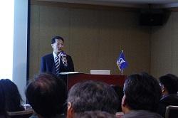 本活動由資通電腦總經理林聖懿的開場致詞揭開序幕。