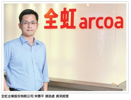 Hui-Ping Sung, Senior Manager of Department of Information Technology, ARCOA